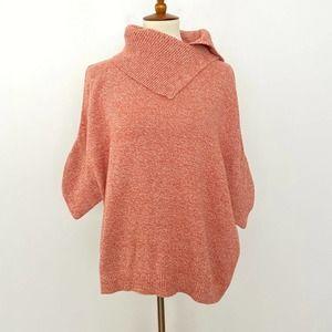 CABI Medium Foldover Split Neck Poncho Sweater